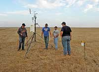 Students work in the field to understand combine fires