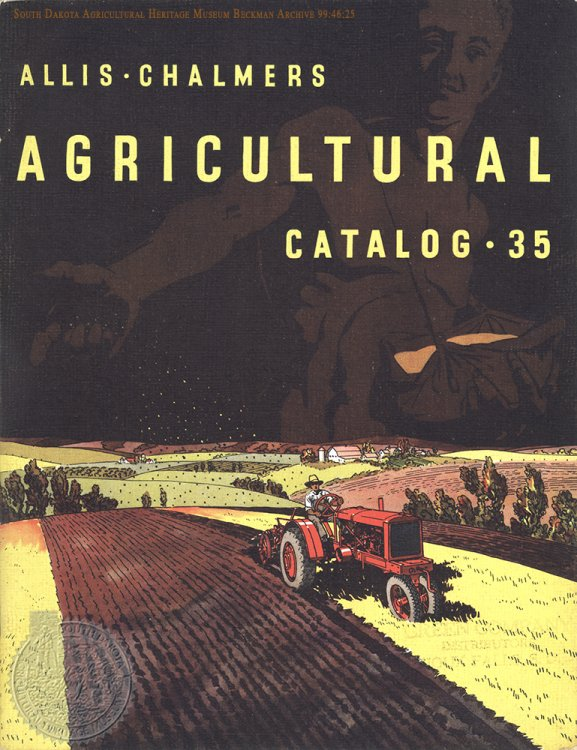"Cover of ""Allis-Chalmers Agricultural Catalog - 35"" Allis-Chalmers Mfg. Co. manual from the Beckman Archive 1935. Click for larger image."