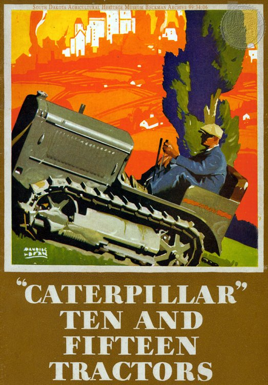 "Cover of ""Caterpillar Ten and Fifteen Tractors"" manual from the Beckman Archive. Click for larger image."