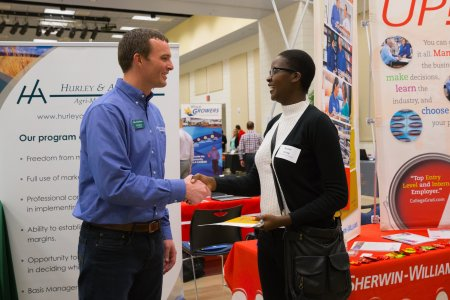 Students met with the recruiters during the Career Fair.