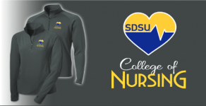 Quarter Zip SDSU College of Nursing Logo