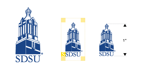 SDSU institutional logo with campanile