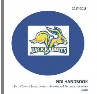 Cover of the 2017-2018 SDSU Nutrition and Dietetics Handbook