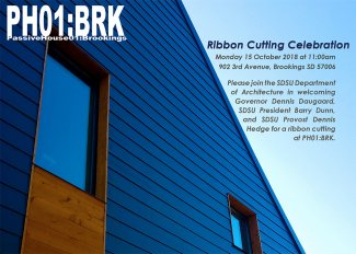 Passive House ribbon cutting postcard