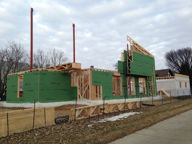 Construction status of the passive house Dec. 17, 2017
