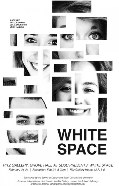 White Space exhibit poster