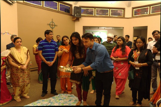 Students involved in the Indian Students' Association gather monthly to enjoy Indian food, music and conversation.