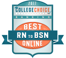 2017 College Choice Rankings Best RN to BSN Online Badge