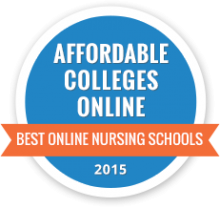 Affordable Colleges Online Best Online Nursing School 2015 Badge