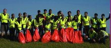 The Nepal Student Association organizes an Adopt-a-Highway cleanup each year north of Brookings.