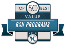 Top 50 Best Value BSN Programs 2015 Badge