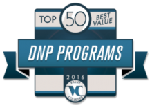 Top 50 Best Value DNP Program 2016 Badge