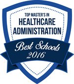 Top Master's in Healthcare Administration Best Schools 2016 Badge