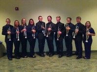 Trumpet Students on stage