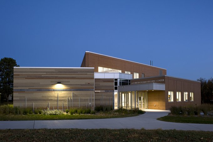 American Indian Student Center - at night 2020