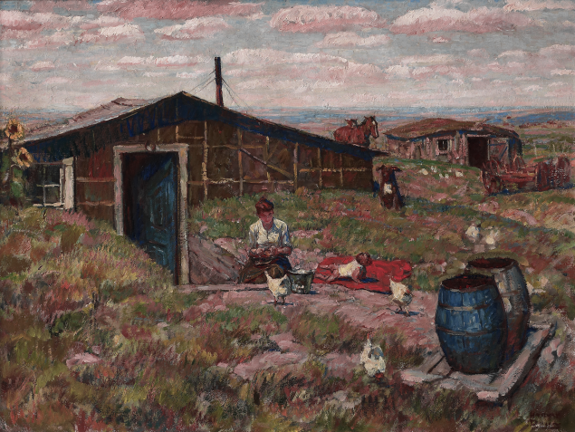 "Harvey Dunn: Cotton Candy Skies Exhibit featuring ""Home"""