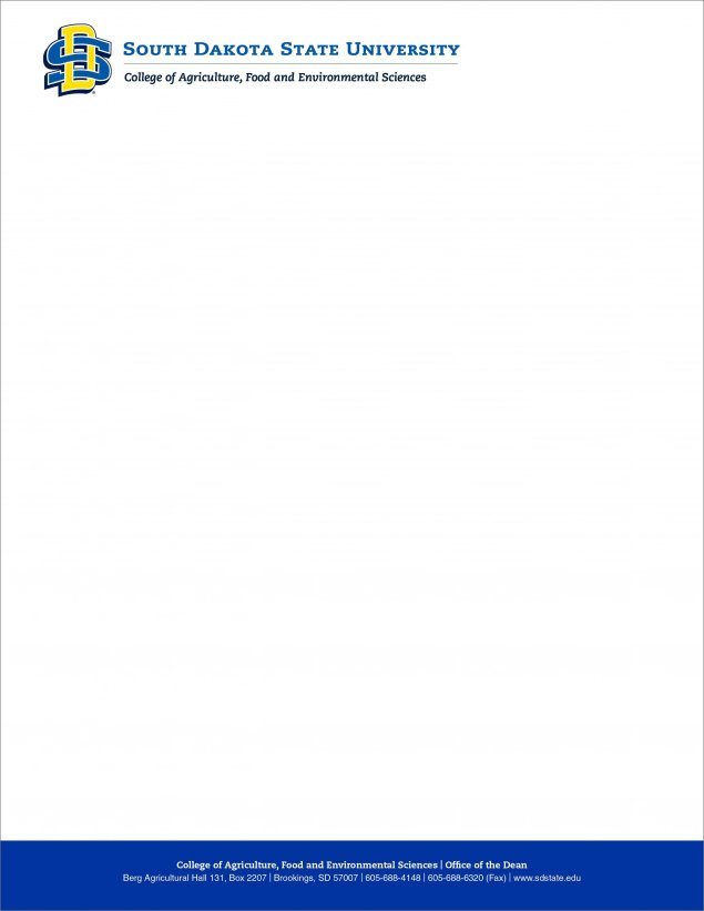 SDState letterhead example