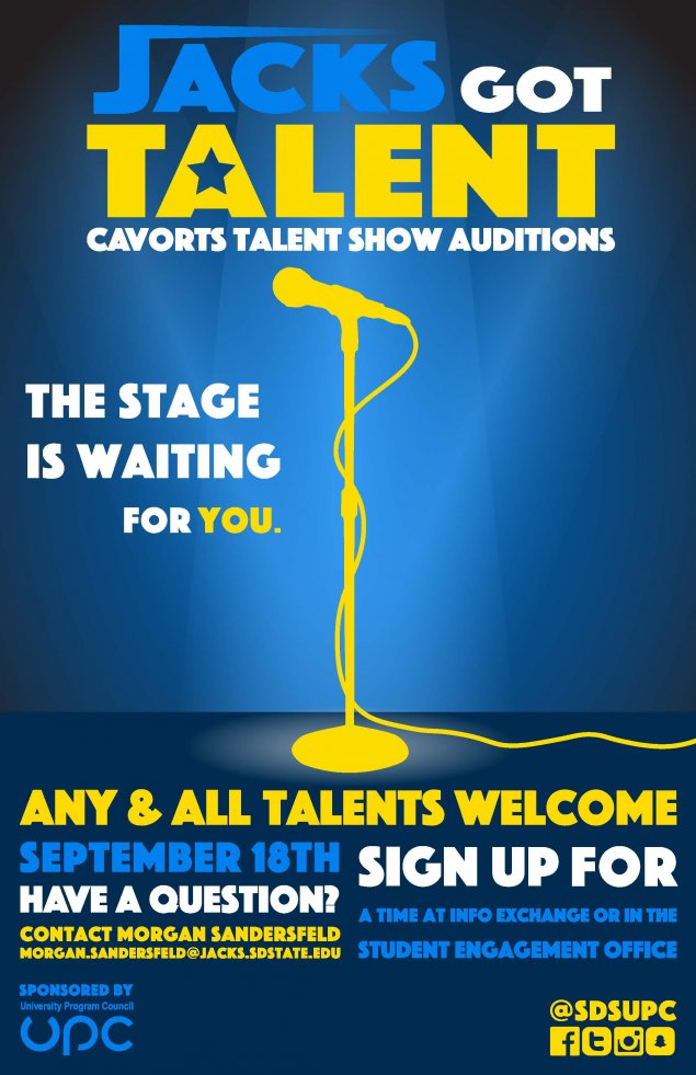2019 Cavorts Audition Poster