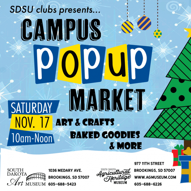 Campus Popup Market November 17 from 10 am to 12 pm at the Ag Museum