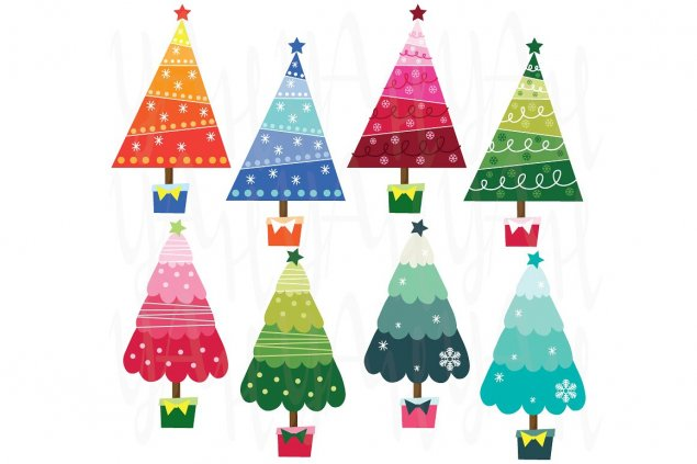 holiday trees graphic