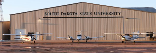 SDSU aviation 3 planes