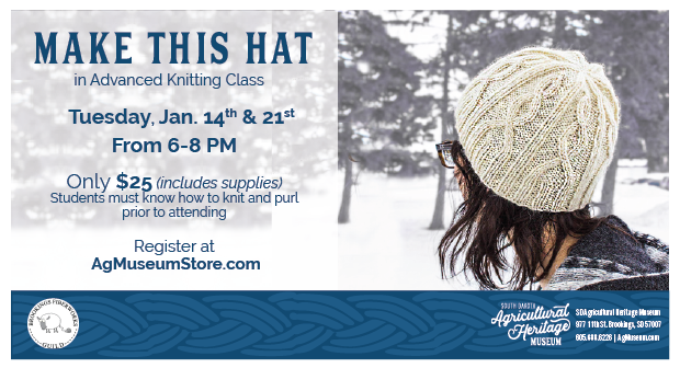 Advertisement with knitting hat example