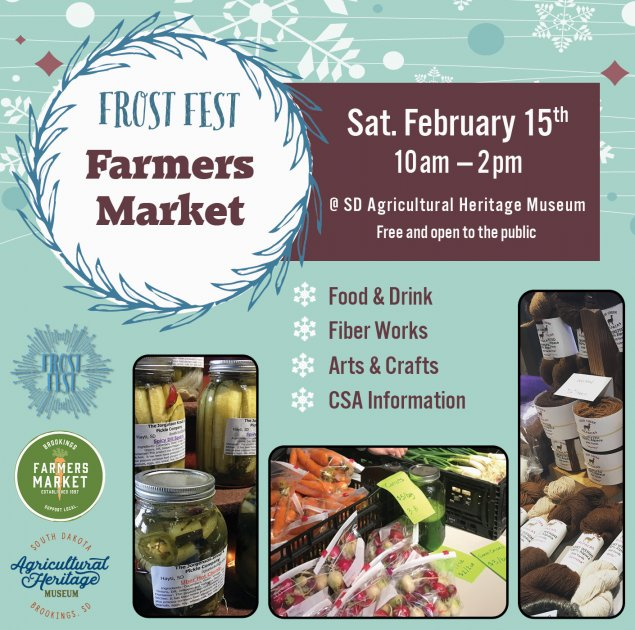 Event information with pictures of vendor products including yarn, pickles, and vegetables