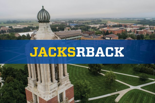 JacksRBack Text over Campanile Photo
