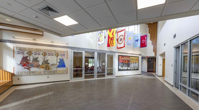 Lobby of the new American Indian Student Center