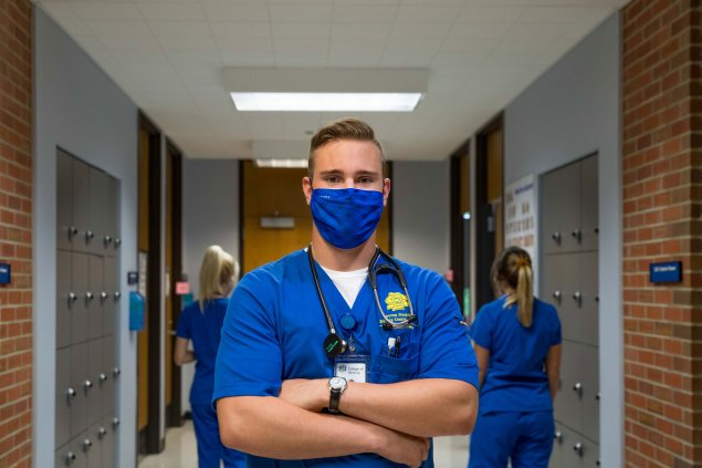 male nursing student