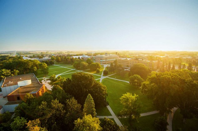 Campus from the the top of campanile