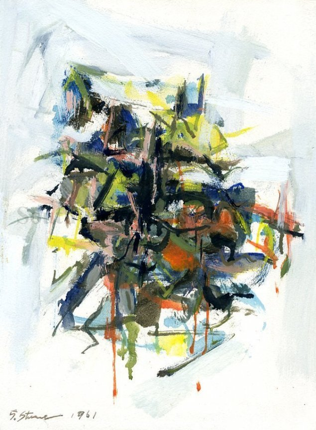 Signe Stuart, untitled abstract painting
