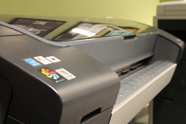 HP Designjet printer closeup