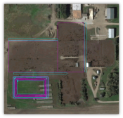 """Aerial view of preliminary lot layout"""