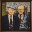 "Mel Spinar painting of ""Hilton M. Briggs and Elmer H. Sexauer"""