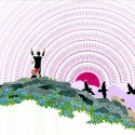 "Paul Goble illustration from ""The Gift of the Sacred Dog"", South Dakota Art Museum 1995.01.006G"