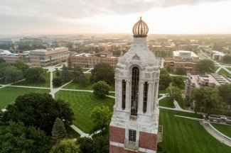 View of Campanile and SDSU campus.