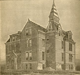 Drawing of Old Central, the first building of the Dakota Agricultural College. It was demolished in 1962.