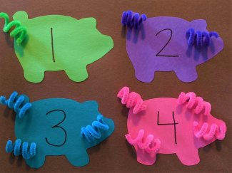 Finished Pig Tail Matching Game