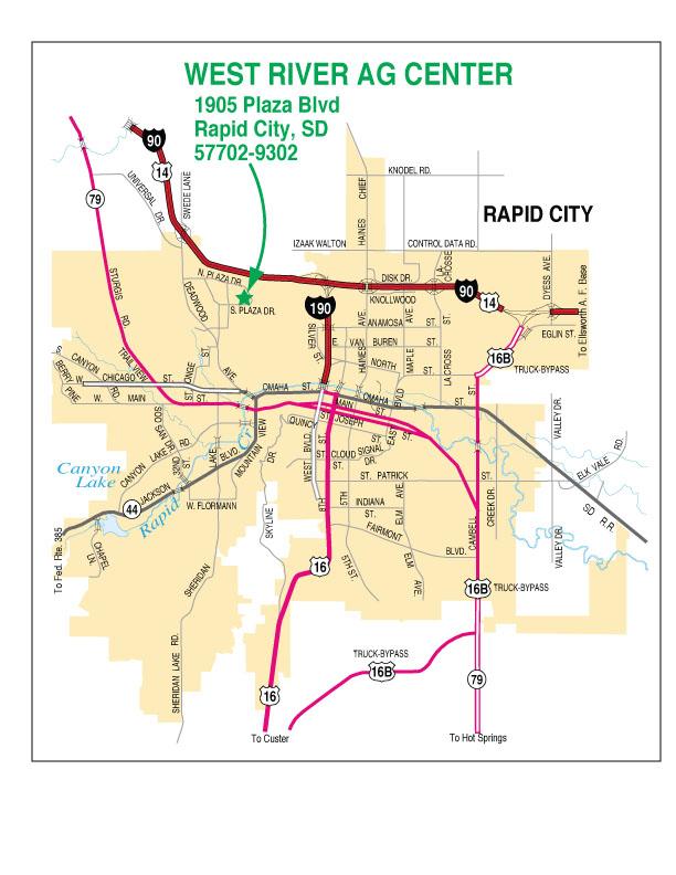 Maps to WRAC | South Dakota State University